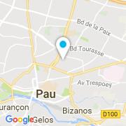 Plan Carte Piscine Pro à Pau
