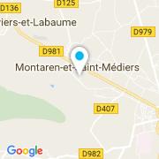 Plan Carte Santos à Montaren-et-Saint-Médiers