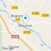 Plan Carte Spring Water à Moussac