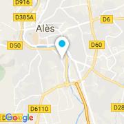 Plan Carte Gard Pompes à Alès