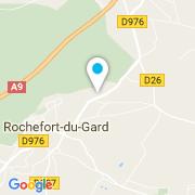 Plan Carte Aquanet à Rochefort-du-Gard