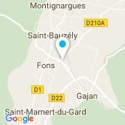 Plan Carte Azur Beton Projete à Fons