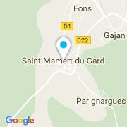 Plan Carte BC Piscine à Saint-Mamert-du-Gard