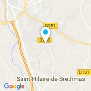 Plan Carte Alain Courtin à Saint-Hilaire-de-Brethmas