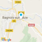 Plan Carte Atrium Piscine à Bagnols-sur-Cèze