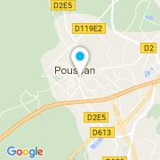 Plan Carte L'Art de l'Eau à Poussan