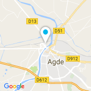 Plan Carte Rammel Patrice à Agde