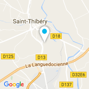 Plan Carte Inter Eaux à Saint-Thibéry
