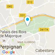 Plan Carte Méditerranéenne de Polyester à Perpignan
