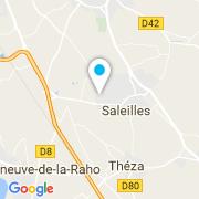 Plan Carte SOS Piscines à Saleilles