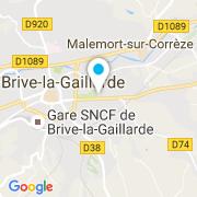 Plan Carte Sun'Piscine à Brive-la-Gaillarde
