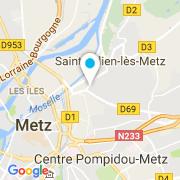 Plan Carte L'entrepot de la piscine à Saint-Julien-lès-Metz