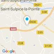 Plan Carte Rénovation-Piscine à St Sulpice