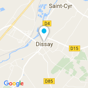 Plan Carte Groupe GA Piscines à Dissay