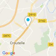 Plan Carte Bella Piscine (Excel Piscines) à Croutelle