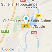 Plan Carte Astarte Services Piscines à Château-Arnoux-St-Auban
