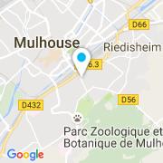 Plan Carte Les Habitats à Mulhouse