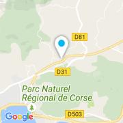 Plan Carte Piscine Azur à Ajaccio