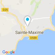 Plan Carte L'Arbre d'Or à Saint-Maxime