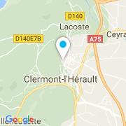 Plan Carte Piscine à Clermont l'Hérault - fermée